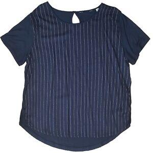 Tunika-Damenbluse-Bluse-Blusenshirt-U-Ausschnitt-Gr-44-Viskose