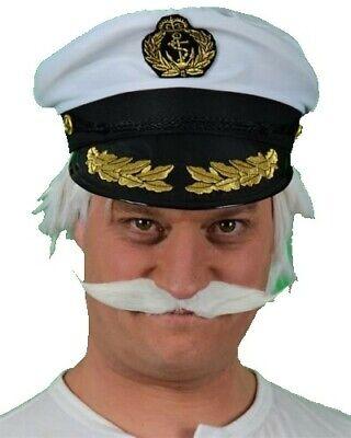 White Long Fancy Dress Moustache