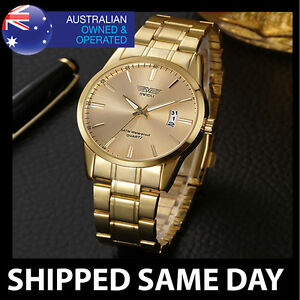 CLASSIC-MENS-GOLD-FASHION-DRESS-WATCH-By-SWIDU-Army-Military-Water-Resistant-32