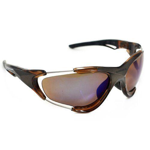 Shimano CE-S70X Cycling Sport Sunglasses, Smoke Brown