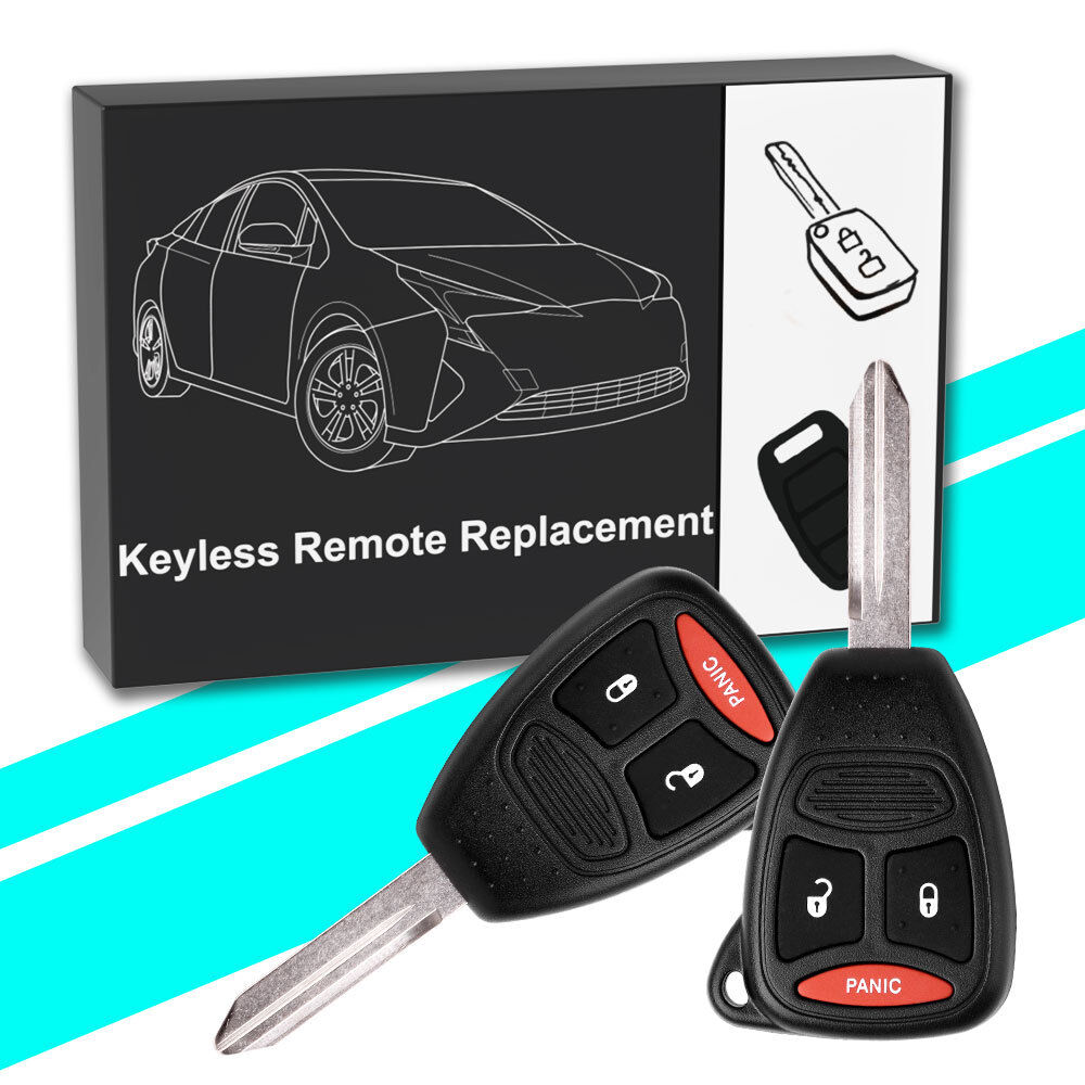 2 Replacement for Dodge Ram 2006 2007 2008 2009 keyless entry remote car key fob