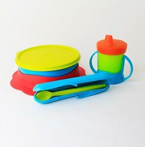 TUPPERWARE tuppercare BABY potabile TAZZA trinklern + BABY PIATTO + CUCCHIAIO IN ASTUCCIO