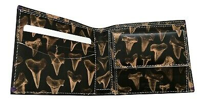 Made in Italy Leather Paul Smith Men/'s Shark Tooth Billfold with Coin Wallet