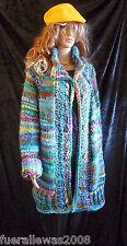 handgestrickt Strickjacke Kurzmantel Schurwolle Unisex X bis XXL  hand knitted 2
