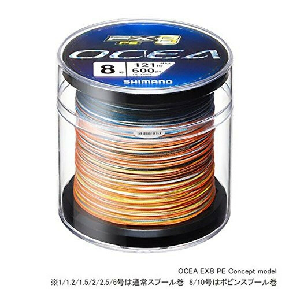 Línea de polietileno Shimano oshia extra 8 concepto Modelo 600m 2.5 Nº 50 lb Multi Color PL-098 L