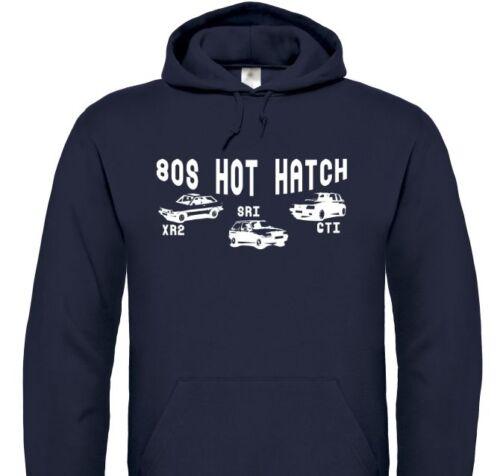 /'80s Hot Hatch/' T-Shirt Ford Fiesta XR2i, Vauxhall Nova SRi, Peugeot 205 GTi