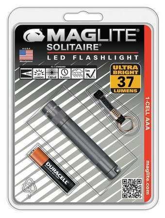 Maglite SJ3A096 Maglite DEL 37 LM Industrial Gray Mini lampe de poche