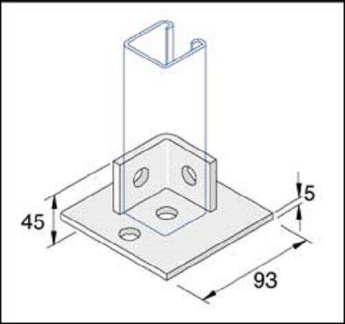 Unistrut Single Channel Base Floor Bracket Fittings 41x41 Hot DIP  Galvanised (p2