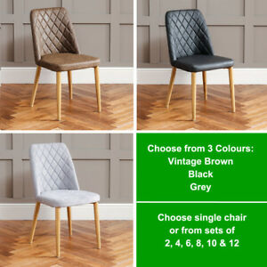 Pleasant Details About Baxter Fabric Faux Leather Scoop Dining Chair With Oak Effect Metal Legs Mc84 Andrewgaddart Wooden Chair Designs For Living Room Andrewgaddartcom