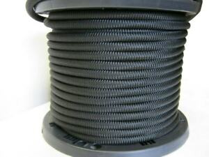 "3//16/"" Black Bungee Cord Marine Grade Heavy Duty Shock Rope Tie Down Stretch Band"