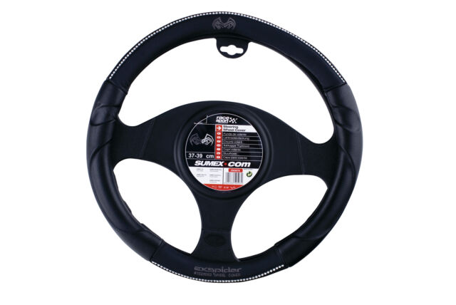 Copri Volante PVC Aligator Nero-Rosso 37-39 cm SUMEX 2505085 Carplus