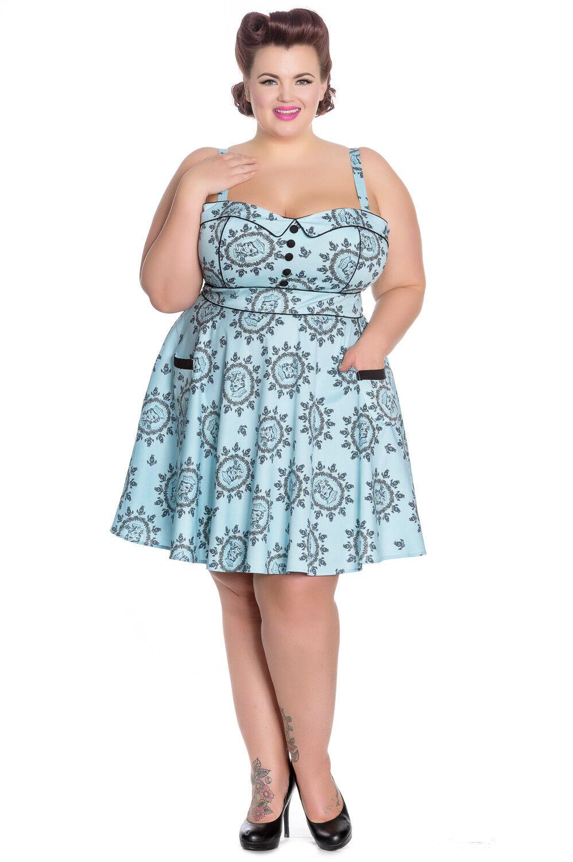 1c7807d495c Hell Bunny Sailor Girl Mini Rockabilly Swing Vintage Retro Dress XL ...