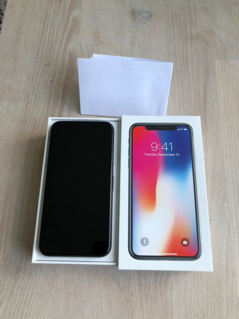 iPhone X, 256 GB, sort, PERFEKT iPhone X 256 GB i sort…
