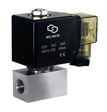 14 Inch High Pressure 2900 Psi Stainless Electric Solenoid Valve Nc 12v Dc