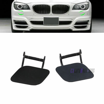 Headlight Washer Nozzle Cover Flap Set of 2 L+R For BMW F01 F02 740i 750i 760i