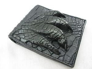 Genuine Crocodile Skin Leather Claw Foot Bifold Men Wallet