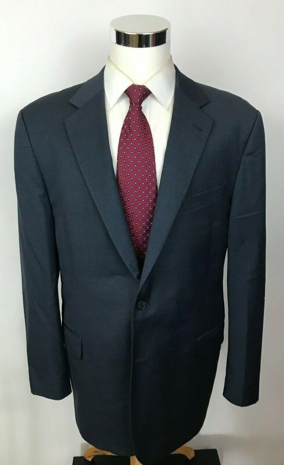 Joseph Abboud Current Super 160's Wool bluee Birdseye 2 Button Suit 46L 36x30
