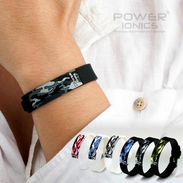 Newest Power Ionics Titanium Ion F.I.R 3D Camo Bracelet Balance Wristband Energy
