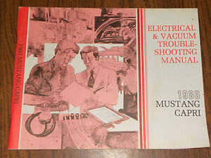 1980 FORD MUSTANG WIRING AND VACUUM DIAGRAM SHOP MANUAL ...