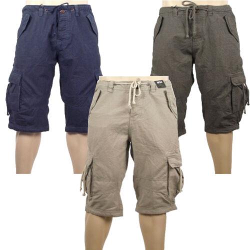 Da Uomo River Island Nuovo 3//4 Lunghezza Cotone Cargo Shorts Blu Beige-Gratis P/&P Grigio