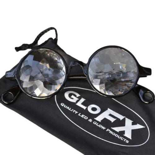 Eyewear 3D trippy rave FX spex laser lazer aurora GloFX Crystal Glass Optics
