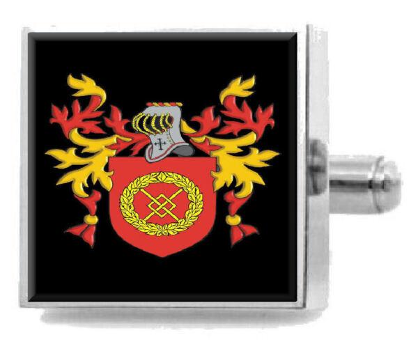 100% QualitäT Scarrott England Heraldik Wappen Sterling Silber Manschettenknöpfe Graviert Hochglanzpoliert