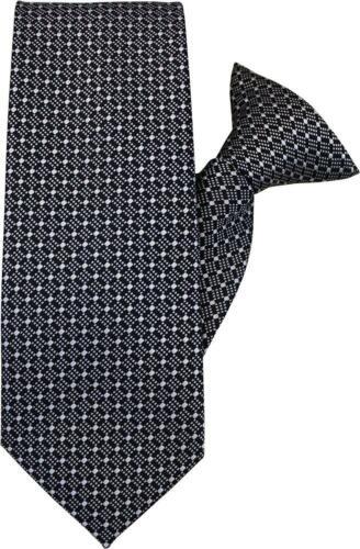 Black with White Diamonds Clip On Tie JH-1024