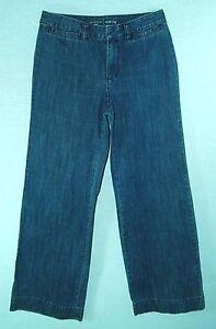 100-Cotton-INDIGO-Wash-WIDE-LEG-Loose-Fit-Classic-Rise-LIZ-CLAIBORNE-Jeans-6