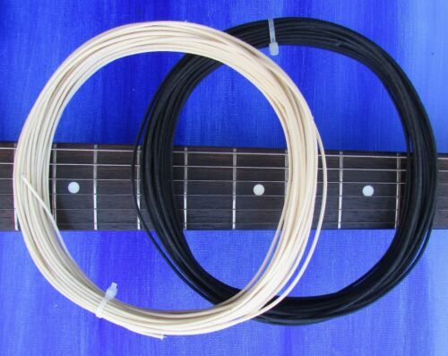 4 ft PROFESSIONAL Black /& White Cloth Push Back 22ga Wire For Vintage Guitar