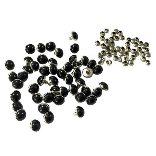 50 Sätze 10mm Nieten Ziernieten Schmucknieten Hohlnieten DIY Rundnieten