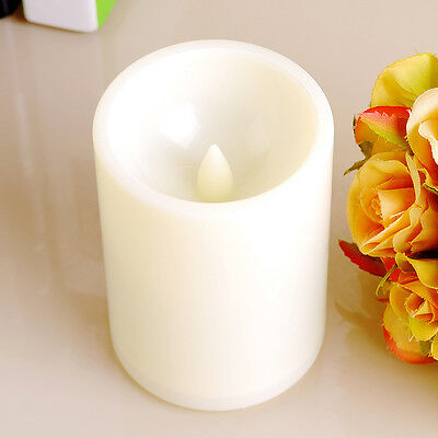 Flameless Resin Pillar LED Candle Lights with Timer for Wedding Party Brithday