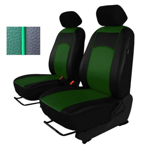 Green Eco-Leather Universal Front Seat Covers for Citroen Xsara Picasso Xsara