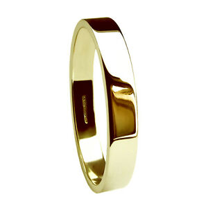 3mm-9ct-Yellow-Gold-Wedding-Rings-Flat-Profile-Bands-2-3g-375-UK-Hallmarked-H-Q