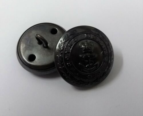 Genuine British Royal Marines Issue RM Insignia Lovat Dress Buttons Size 38L NEW