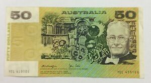 1979-Knight-Stome-50-note-YEL-459108-circulated-condition