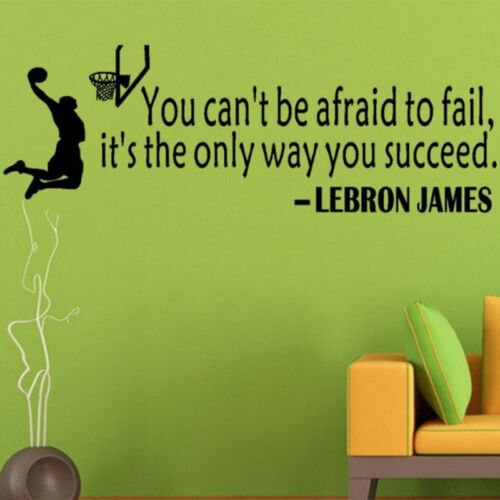 Home Lebron James Quote Basketball Sport Wall Sticker Vinyl Art Decal Decoration