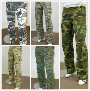 Mens-Army-Military-Outdoor-Camping-Hunting-Camo-Camouflage-Fishing-Cargo-Pants