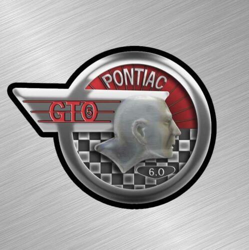 Pontiac Vintage Logo GTO Vinyl Decal Sticker Car 6.0 LS LSX Emblem Muscle