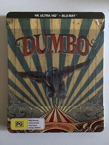 NEW-Dumbo-2019-Bluray-Steelbook-4K-UHD-HDR-Limited-Edition-Disney-Tim-Burton