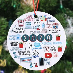 2020 Memories Quarantine Christmas Ornament Annual Events Wood Ornaments Decor