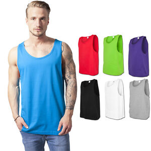Activewear Tops Activewear Honey Urban Classics Jersey Big Tank Tanktop Muskelshirt Muscle Top T-shirt Basketball Cleaning The Oral Cavity.