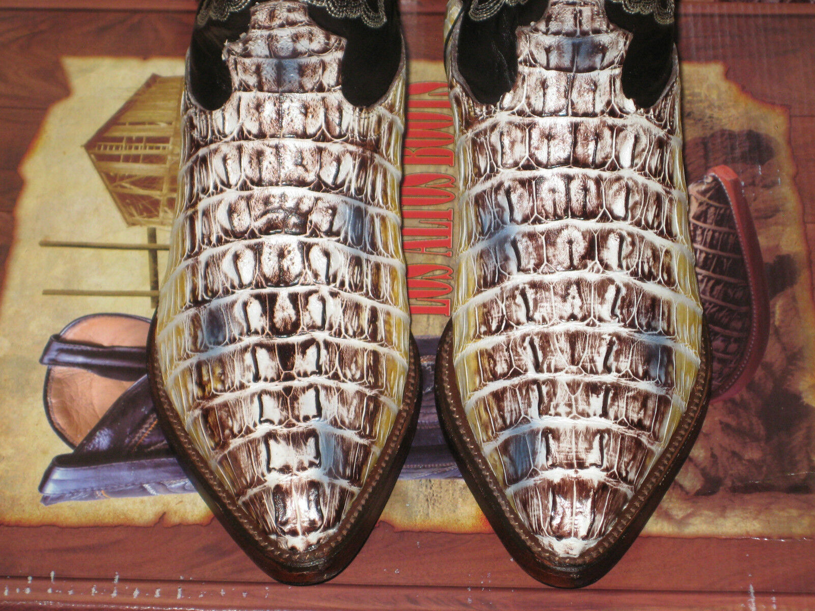 Los altos Mujeres Natural Original Bota de vaquero de occidental de cola de vaquero cocodrilo (M) L091491 535e97