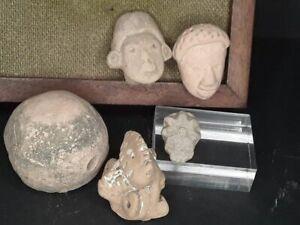 Mexican Pre Columbian Tlatilco Terracotta double head Group lot 4