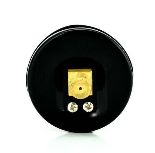 """Black Steel Case 2-1//2/"""" Pressure Gauge Back Mnt 1//4/""""NPT 0-160 PSI"""