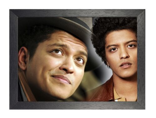 Bruno Mars 10 Photo American RnB Pop Singer Picture Music Hat Smile  Poster