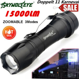 Super-Hell-15000LM-Q5-AA-14500-ZOOMABLE-3-Modes-LED-Taschenlampe-Fackel