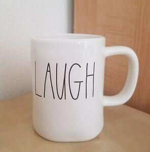 BRAND NEW RAE DUNN BY MAGENTA LAUGH Coffee Tea Mug Farmhouse Home Kitchen Decor