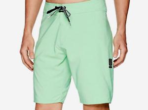 NEW VOLCOM board shorts  swim trunks Lido solid mod Poison Green sz 30 34 36 38