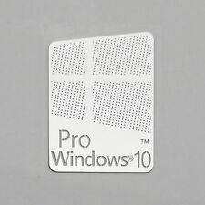 Windows 10 Pro Logo Metal Sticker for Computer/Laptop PC(17x22mm) USA Seller!