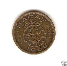 1968 MACAU PORTUGAL Coin 10 AVOS